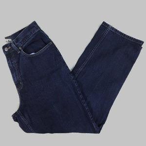 L.L. Bean Original Fit High Waist Dark Mom Jeans